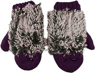 Girls Women Cute Adorable Hedgehog Knitted Wool Chunky Winter Warm Gloves Mittens