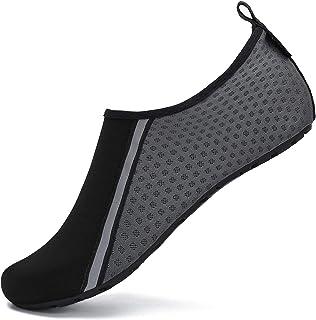 SAGUARO Chaussures Aquatiques Chaussures d'eau Chaussons de Plage Yoga Surf Nager Sport Aquatique Plongée Piscine pour Fem...