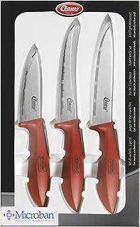Clauss CE2601016 Lot de 3 Couteaux Acier Inoxydable 7,7/9,9/11 cm