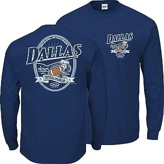 Smack Apparel Dallas Football Fans. Dallas A Drinkingtown with A Football Problem Navy T-Shirt (Sm-5X)