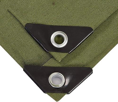 DLDL Bache imperméable de bache de Sol de Couverture de remorque de Tente de bache imperméable au Sol Durable Vert, 650G   M2 (Taille   5×6m)