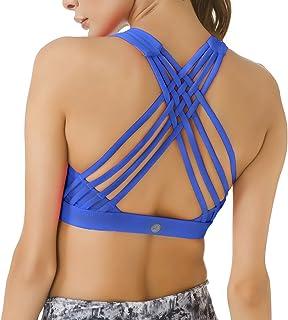 Women's Medium Support Strappy Back Energy Sport Bra Cotton Feel 6017