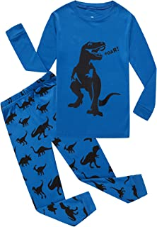 Space Little Boys Pajamas Sets 100% Cotton Clothes Toddler Kids