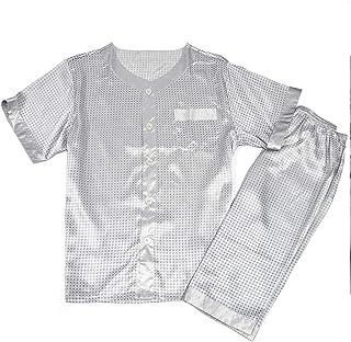 Men Sleepwear Autumn Winter Silk Pajamas Lingerie Satin Sleepwear Man Plus Size Sleeve Nightdress Male Solid Nightwear Sle...
