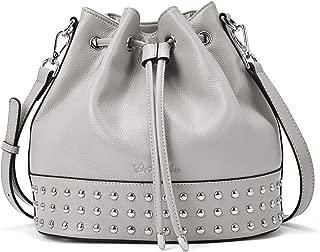 BOSTANTEN Women Leather Bucket Handbag Designer Shoulder Hobo Purses Cross-body Bag