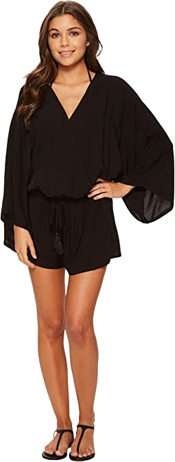 Vince Camuto - Riviera Solids Cover-Up Romper