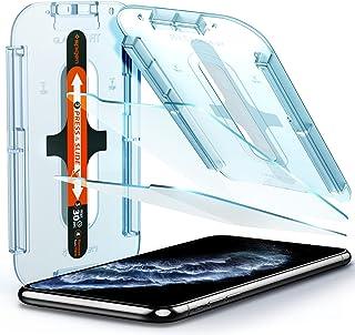 Spigen, 2 stuks, Screenprotector compatibel met iPhone 11 Pro, iPhone XS/X, glas. tR EZ Fit, sjabloon voor installatie, ho...