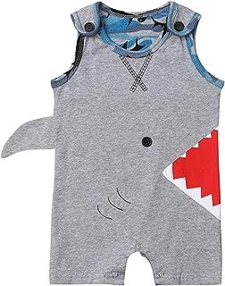d23e336595a Unisex Baby Autumn Winter Shark Hooded Sweatshirt Infant Boys Girls Hoodies  with Kangaroo Muff Pockets& Shark