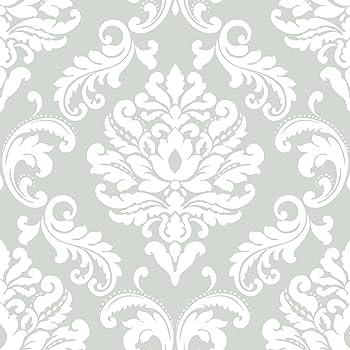 Nuwallpaper Nus1935 Nu1935 Ariel Grey Peel And Stick Wallpaper Amazon Com