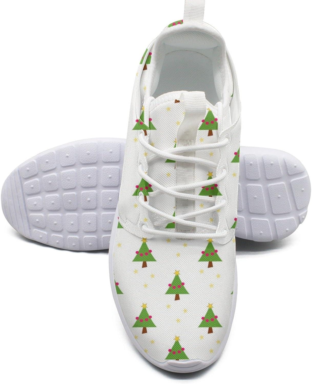 Women's Fashion Lightweight Tennis Sneakers Christmas Tree Pattern Retro Basketball shoes