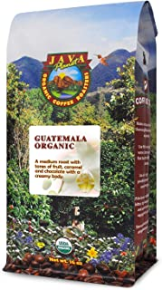Java Planet - Guatemalan USDA Gourmet Organic Coffee Beans, Medium Roast, Fair Trade, Bird Friendly, Arabica Gourmet Specialty Grade A - packaged in 1 LB bag