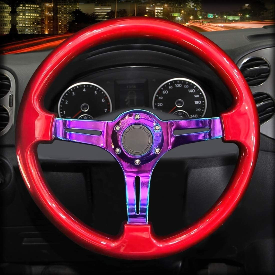 XiaoMinZhang Car Colorful Modified Racing Horn Manufacturer OFFicial shop New color Sport Button Stee