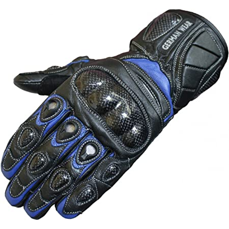 German Wear Motorradhandschuhe Motorrad Biker Handschuhe Lederhandschuhe Größe 10 Xl Farbe Blau Auto
