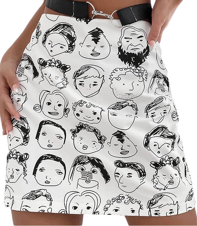 WULAOULALA Women's Summer Sexy Bodycon Mini Skirt High Waist Zebra Print Side Drawstring Ruched Skirt Casual Streetwear
