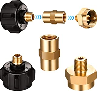 Mudder QCC1 1/4 Propane Refill Adapter Gas Valve with Nut, 1/4 Inch Male Pipe Thread and 1/4 x 1/4 Inch Brass Pipe Fitting...