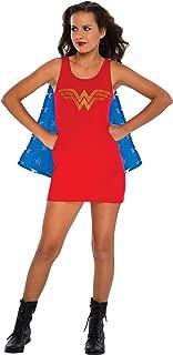 Rubie's DC Comics Justice League Superhero Style Teen Dress with Cape Rhinestone Wonder Woman, Red, Medium Costume