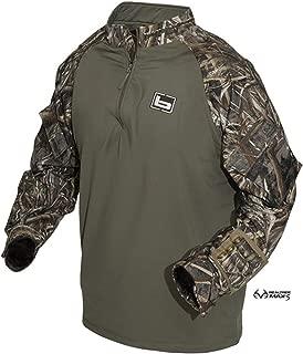 banded quarter zip utility shirt