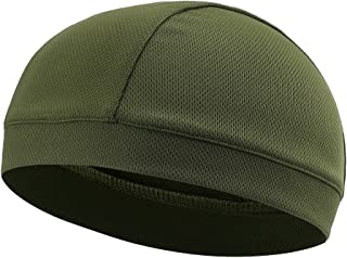 TOFERN Summer Moisture Wicking Elastic Skull Cap Helmet Liner Bandana Beanie Hat for Outdoor Cycling Running Sport Motorcycle Polyester