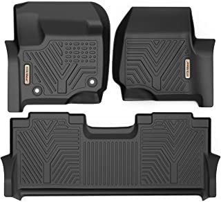 YITAMOTOR Floor Mats for F250/F350, Custom Fit Floor Liners for 2017-2019 Ford F-250/F-350 SuperCrew Cab, 1st & 2nd Row All Weather Protection