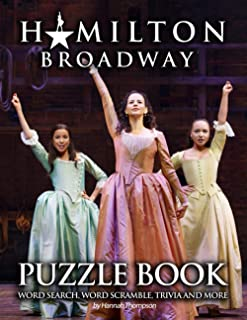Hamilton Broadway Puzzle Book: A Fantastic Puzzle Book For Stress Relieving, Relaxation And Have Fun With Flawless Activit...