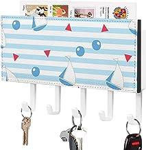 Crochet à clé mural, trieur de courrier, Triangle et conception d'éléments marins épissure Décor à la maison pour salle d'...