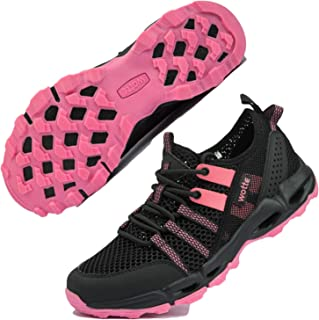 MAINCH Women's Hiking Water Shoes, Quick Dry Breathable Textile Mesh Athletic Outdoor Sneakers Size 6-13