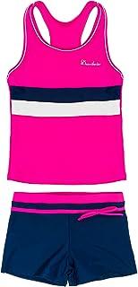 KABETY Little Girls Summer Two Piece Boyshort Fashion Tankini Swimsuit