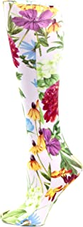 Celeste Stein Therapeutic Compression White Bellagio Socks, Mild 8-15 Mmhg