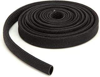 Techflex FGN0.38BK10 Insultherm High-Temperature Resin-Coated Fiberglass Braided Sleeve, 3/8
