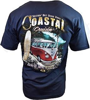Badda Bing Club Stock Print on Muckler Bowling Shirt Classic Navy