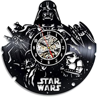 Darth Vader Star Wars Film Series Vinyl Wall Clock Decor Your Home Get Unique Wall Clock Friendship Present Thanks Gift Extraordinary Gift for Him and Her Original Handmade Present Vintage Gift