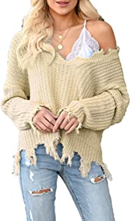 plus size distressed sweater