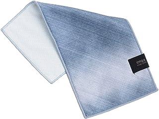 imaa クールタオル ハーフハンカチ 日本製 接触冷感 ひんやりタオル ブルー