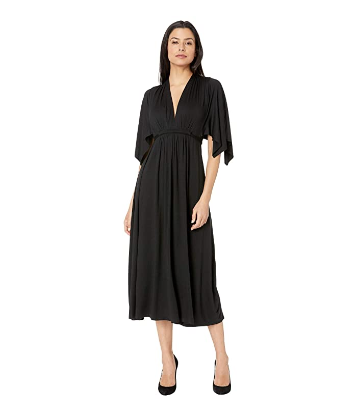Rachel Pally Mid Length Caftan Dress (Black) Women's Dress