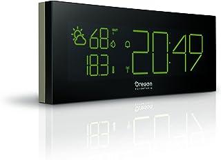 Oregon Scientific BAR292 - Estación meteorológica con reloj despertador, temperatura y humedad interior y exterior, pantalla LCD a color, USB, negro/gris