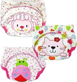 Baby Kids Potty Training Pants Washable Cloth Diaper Nappy Underwear