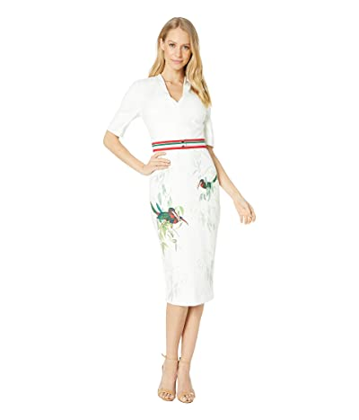 Ted Baker Molilo Tutti Frutti Bodycon Dress (White) Women