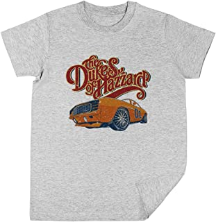 Wigoro The Dukes of Hazzard - 80s TV Niños Unisexo Chicos Chicas Gris Camiseta Kids Unisex T-Shirt