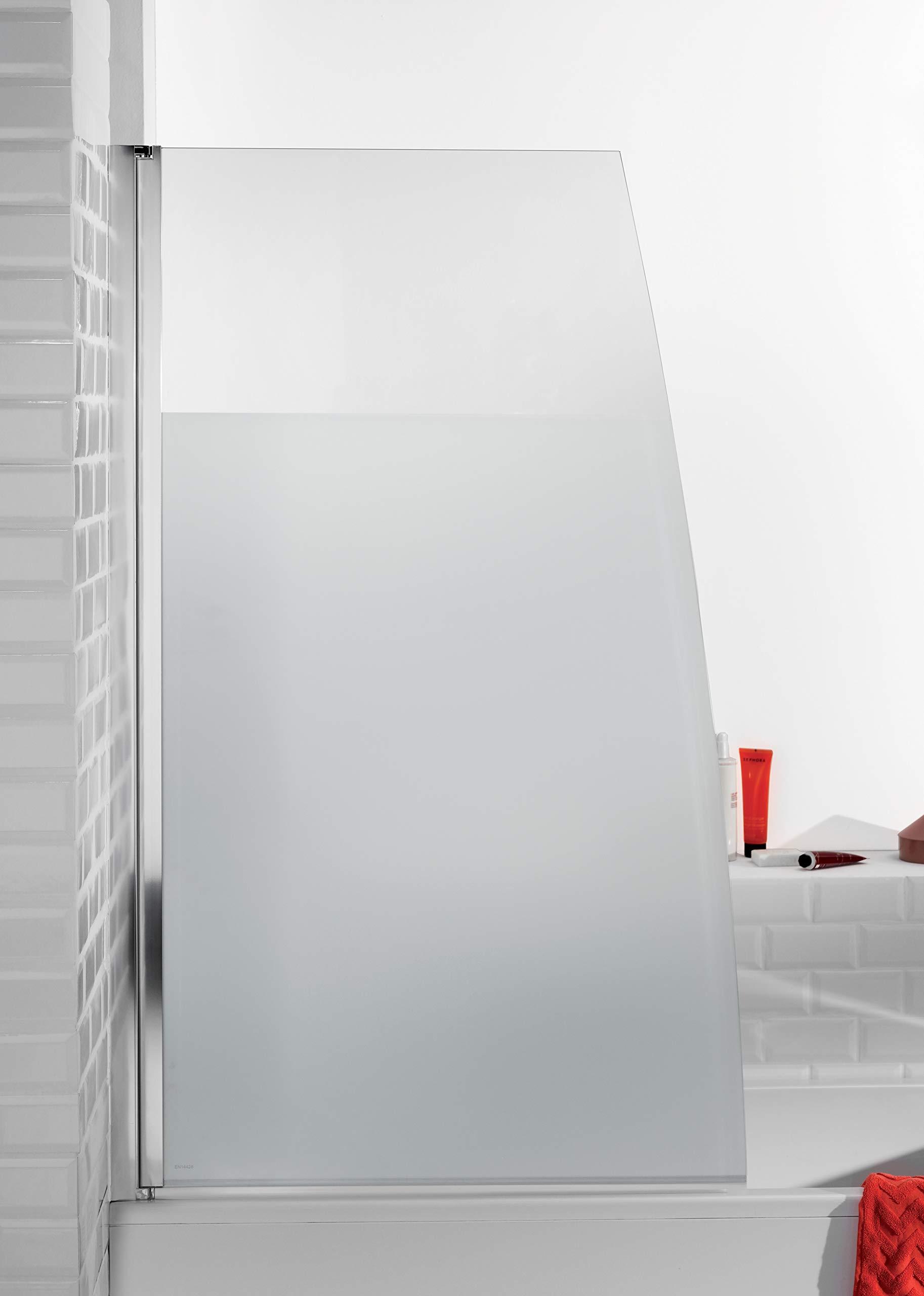 Jacob delafon serenity - Mampara bañera cromo gris anodizado ...