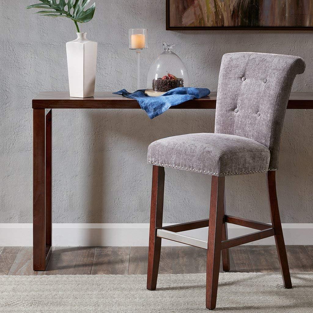 Amazon.com Madison Park Colfax Bar Stools   Solid Wood, Textured ...