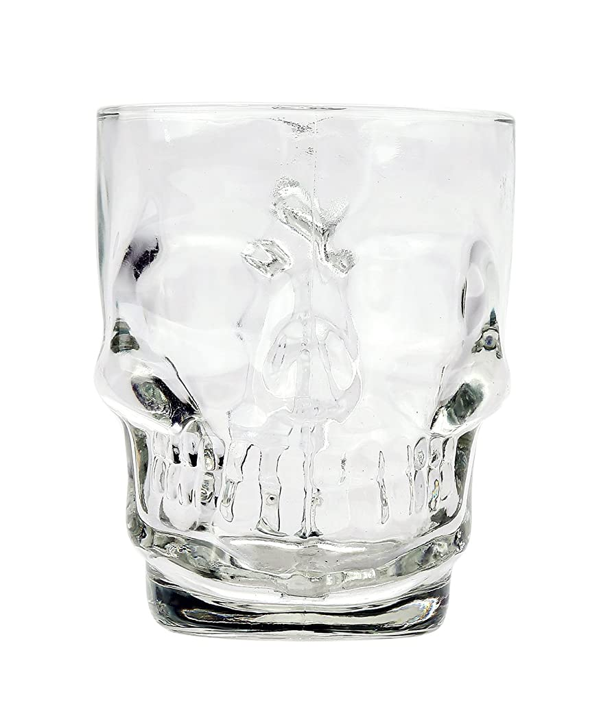 提供されたキリマンジャロ湿度Novelty Glass Skull Face Drinking Mug 530ml Beer Juice Water Drinking Glasses
