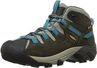 KEEN Women's Targhee II Mid Waterproof Hiking Boot, Gargoyle/Caribbean Sea, 5.5 M USClick to see price