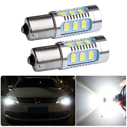 Fezz Bombillas LED Coche Luz Diurna Drl S25 Ba15S 1156 5630 15Smd 7.5W Canbus