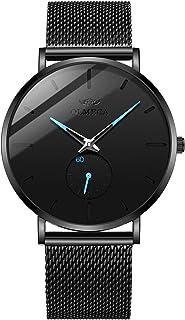 OLMECA Men's Watches Fashion Simple Watches Ultra Thin Wristwatches Waterproof Quartz Women Watches Chronograph Watch for Men