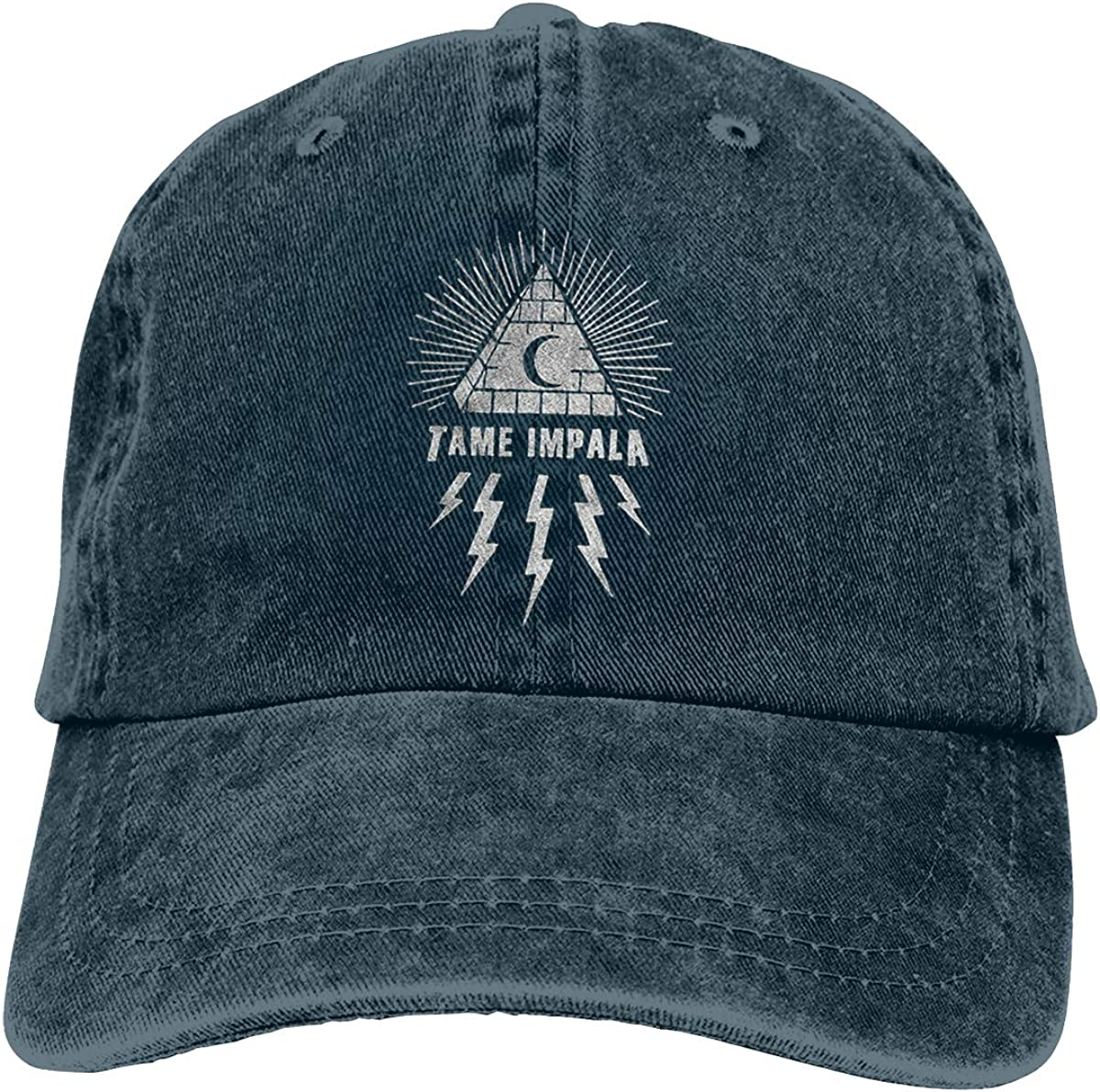 Tame Impala Innerspeaker Durable Unisex Adult Snapback Denim Hats Black