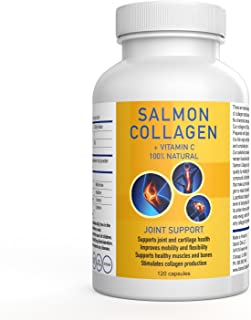 SALCOLL COLLAGEN Hip & Joint Mobility Capsules - For Increased Movement Hindered By Joint Pain - Aids in Tissue Cartilage & Bone Repair - For Improved Energy Vitality and Quality Of Life - 120 Caps