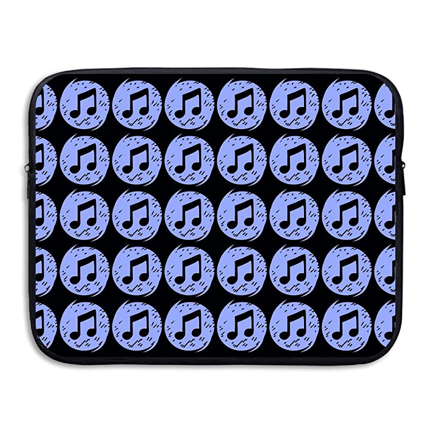 Musical Notes Pattern Business Briefcase Laptop Sleeve For Macbook Pro Air Lenovo Samsung Sony