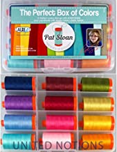 Aurifil Thread Set THE PERFECT BOX OF COLORS By Pat Sloan 50wt Cotton 12 Large (1422 yard) Spools