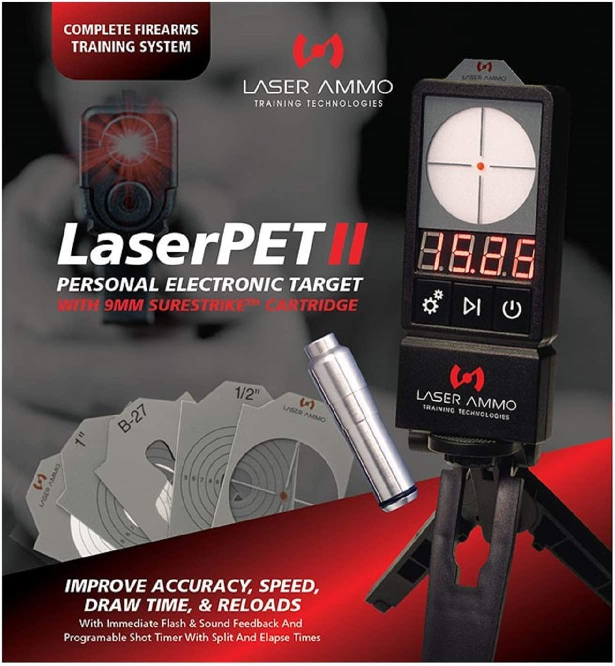 LaserPET II + SureStrike 9mm Baltimore Mall price Training 3.5mW to I Laser Class