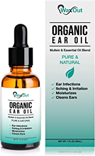 Natural Mullein Ear Wax Removal & Cleaner | Pain & Earache Relieving Drops | Earwax Softener, Moisturizer & Odor Remover for Tinnitus, Itching, Ringing, Infections & Clogged Ears